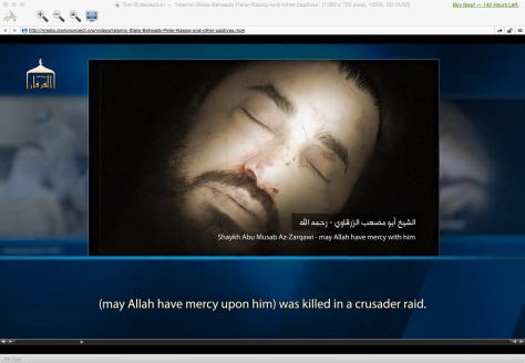 al-Zarqawi death face